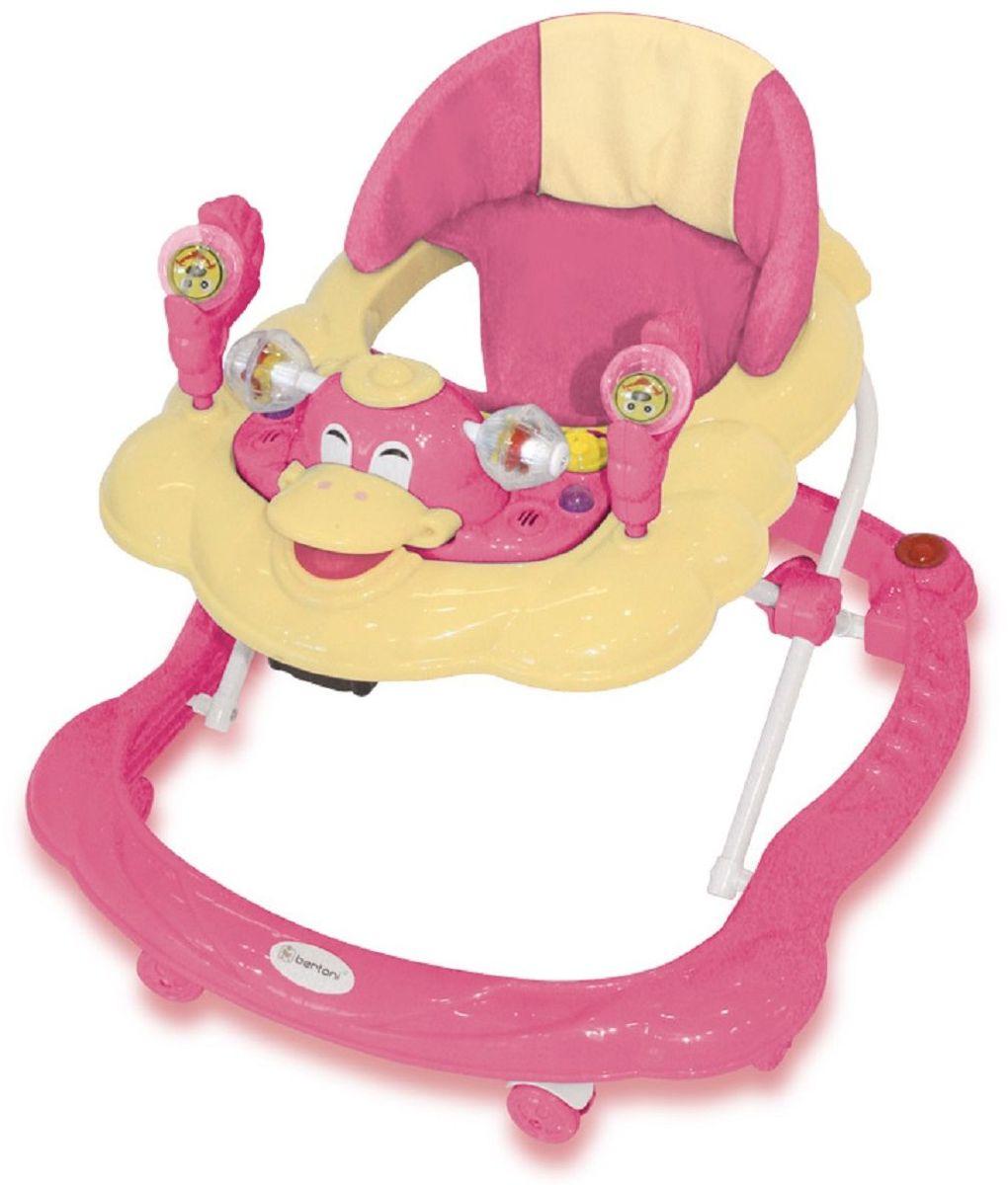 Bertoni Ходунки BW 10 цвет розовый желтый - Ходунки, прыгунки, качалки