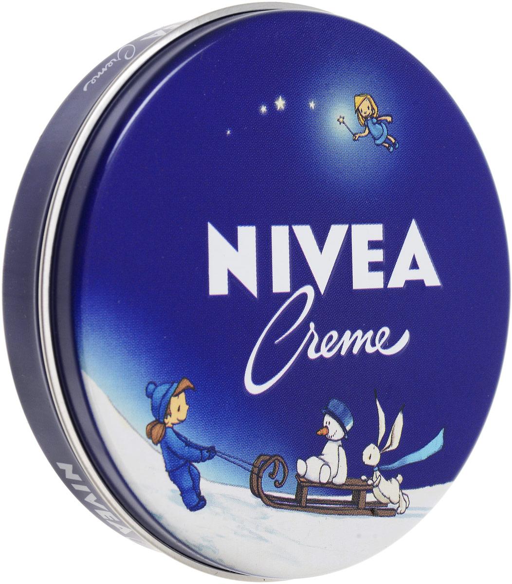 NIVEA Крем для ухода за кожей 75 мл80103Универсальный крем для кожи Nivea Creme обладает уникальной формулой, благодаря которой увлажняет, питает и бережно ухаживает за кожей тела, особенно за сухими участками. Крем не содержит консервантов и поэтому подходит даже для нежной детской кожи. Характеристики: Объем: 75 мл. Производитель: Германия. Артикул: 80103.Товар сертифицирован.
