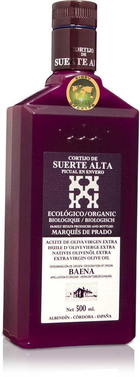 Suerte Alta Пикуаль оливковое масло Extra Virgin, 500 мл8437009165027Суэртэ Альта Пикуаль - нерафинированное оливковое масло первого холодного отжима (Extra Virgin Olive Oil) премиум класса кислотностью 0,2%, которая является лечебной по испанским законам. ЭКОЛОГИЧЕСКИЙ ФЕРМЕРСКИЙ ПРОДУКТ из оливок сорта Пикуаль раннего сбора урожая. Диетический продукт!ОРГАНИЧЕСКОЕ оливковое масло от семьи Мануэля Эредия Альскон, маркиза Прадо. Компания основана его дедом в 1924 году. С 1996 года компания официально занимается Органическим сельским хозяйством, о чем свидетельствует сертификат C.A.A.E. - Совета по органическому земледелию Андалусии, а также аналогичные сертификаты США, Японии и Европейского совета. Поместье находится недалеко от городка Баэна (провинция Кордоба) - официальной столицы оливкового масла Испании. Именно здесь ежегодно проходит праздник молодого оливкового масла