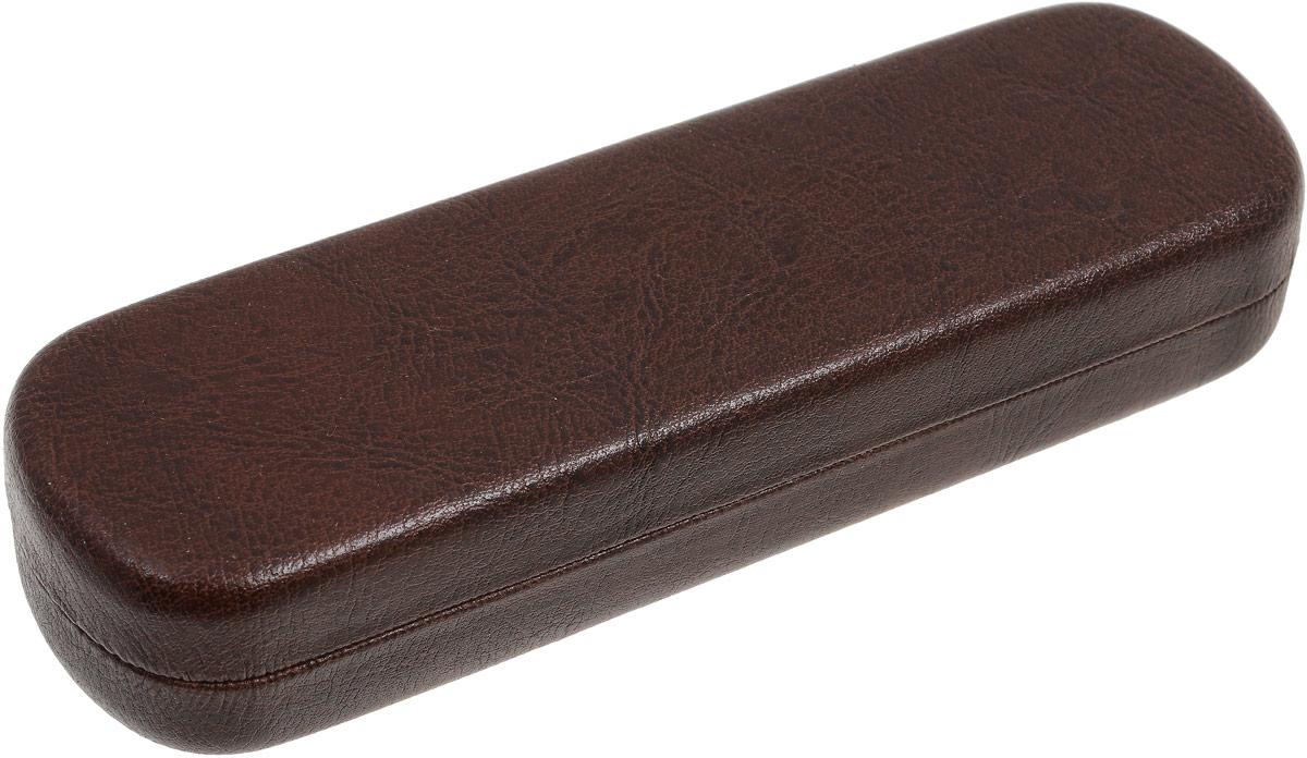 Proffi Home Футляр для очков Fabia Monti, 4,5х16 см, цвет: рептилия коричневыйPH6733_коричневый