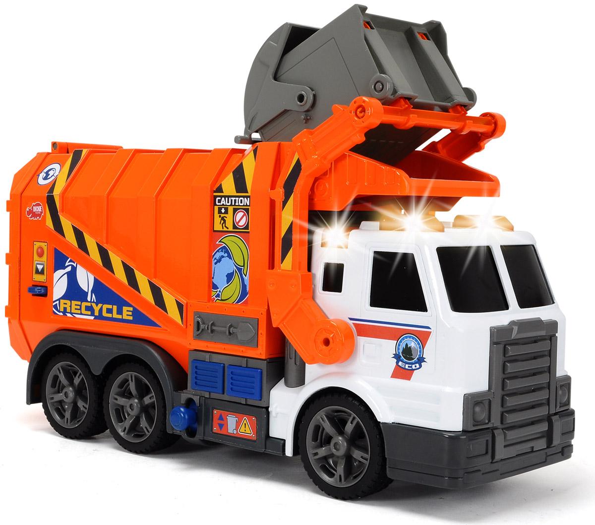 Dickie Toys Мусоровоз цвет оранжевый белый dickie toys мусоровоз heavy city truck