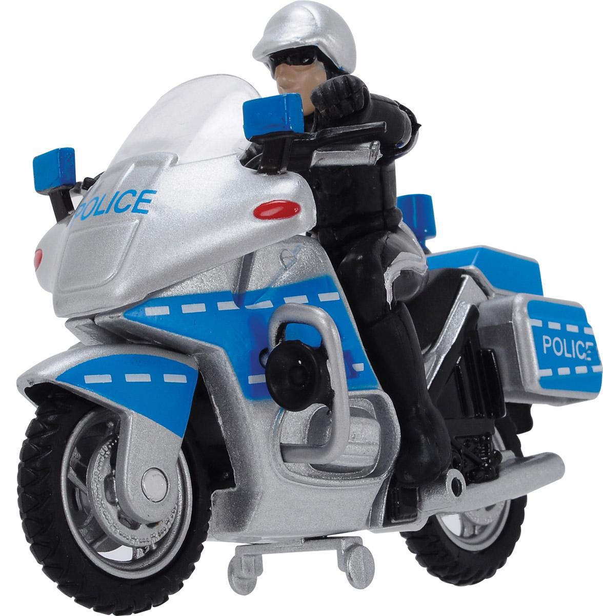 Dickie Toys Полицейский байк dickie toys городской трамвай