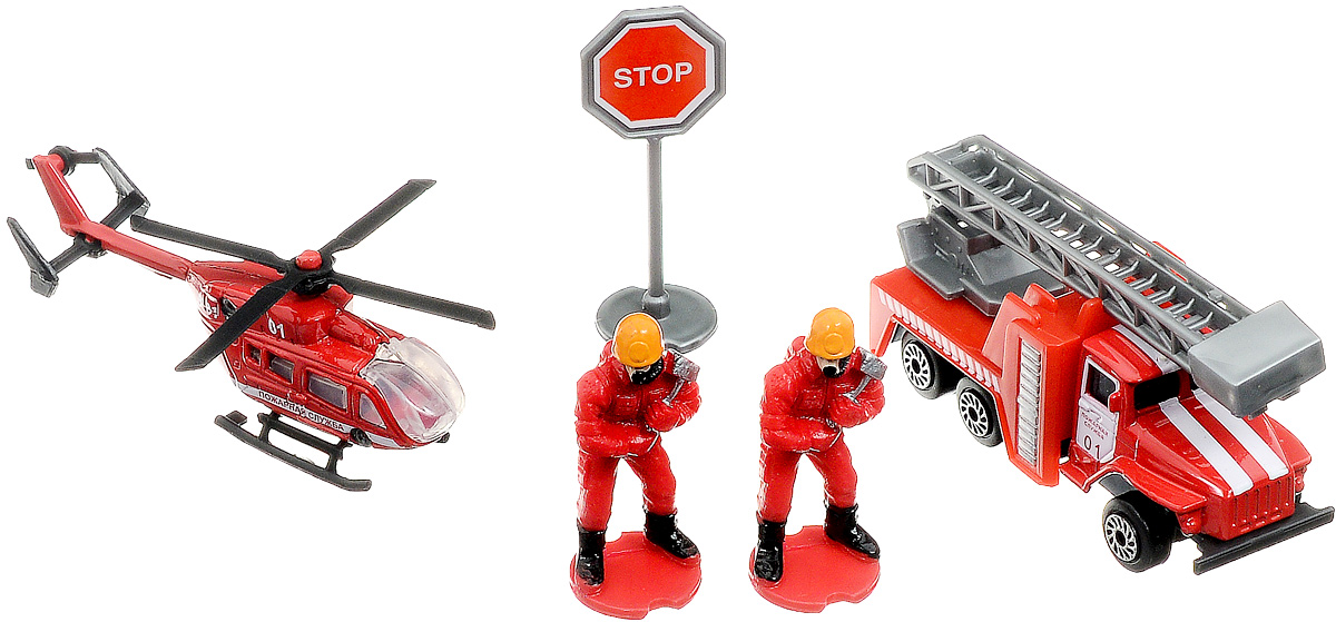 ТехноПарк Набор машинок Пожарная служба 2 шт дружная команда звери