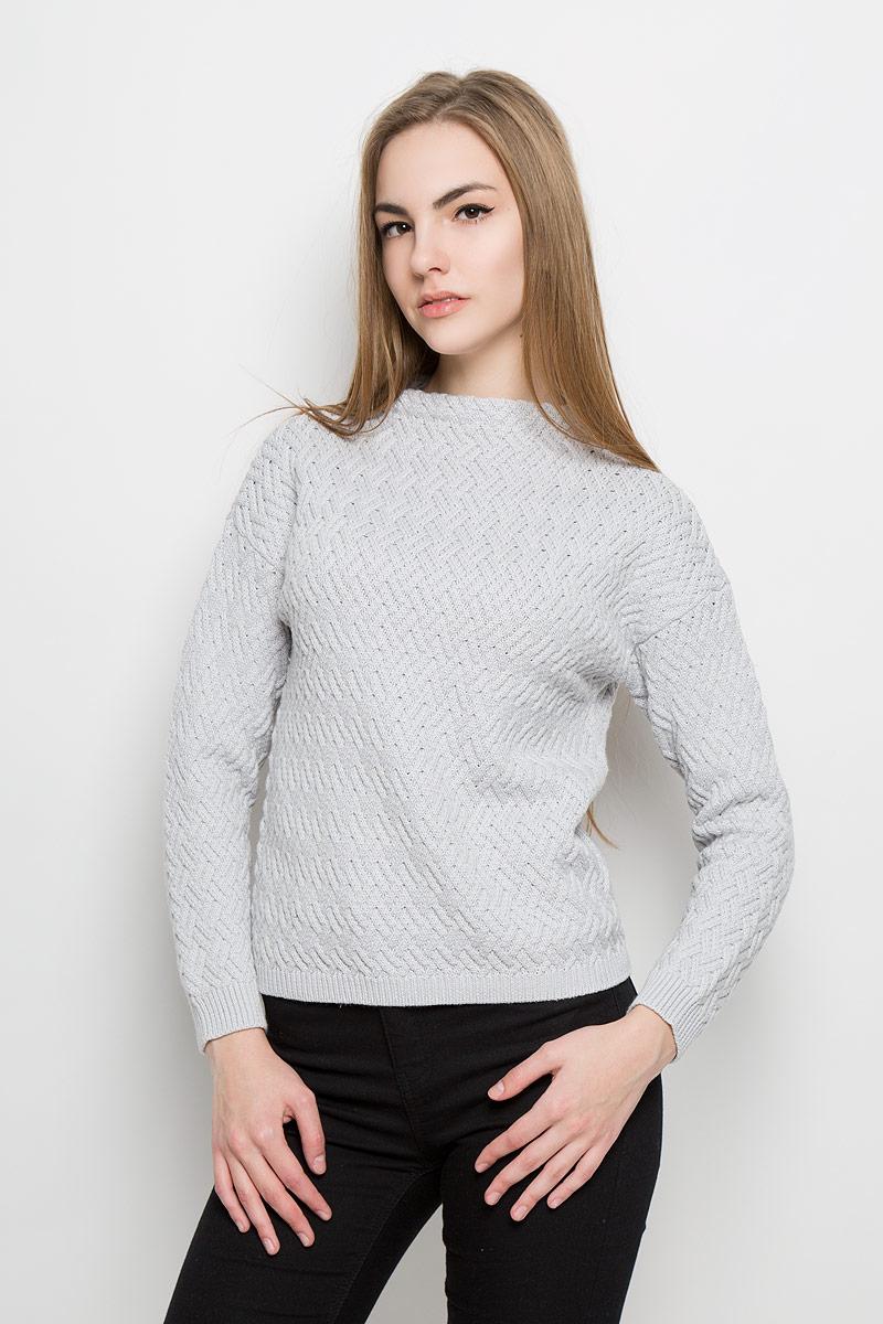 Джемпер женский Broadway Telma, цвет: светло-серый. 10156944_893. Размер XS (42) пуловеры broadway пуловер