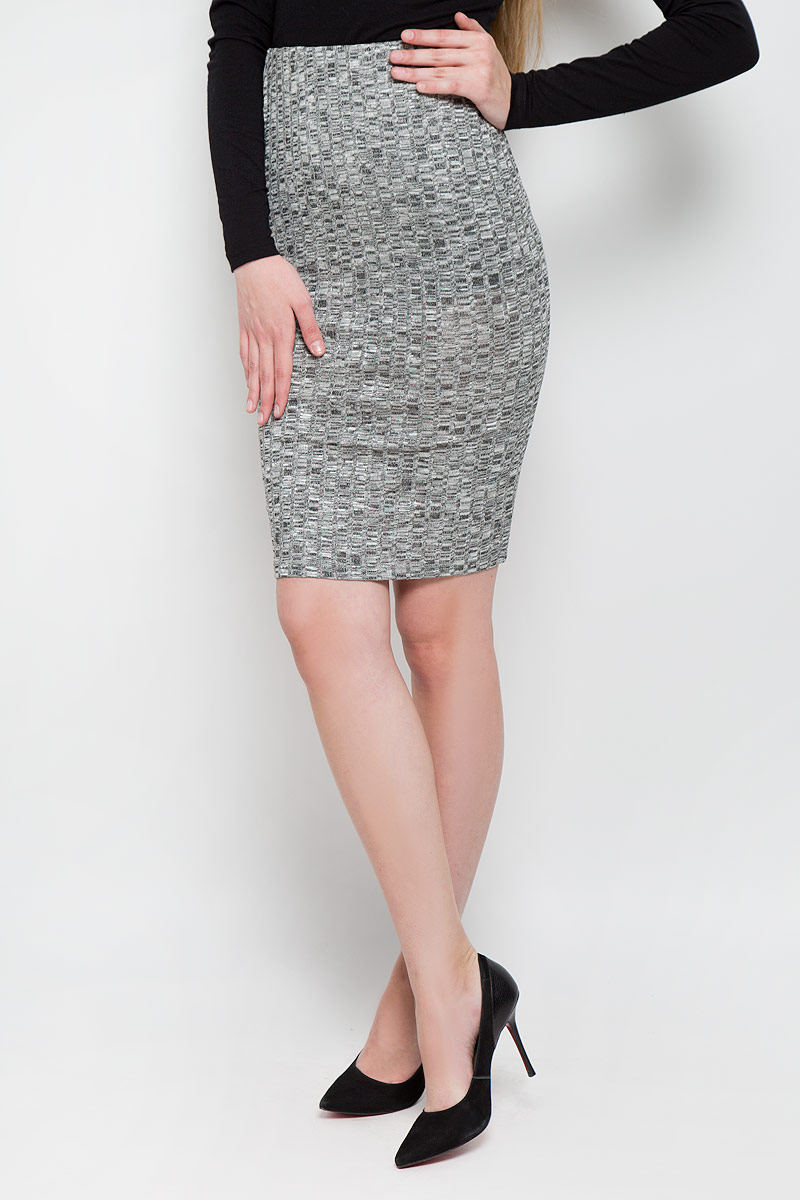 Юбка Broadway Sevi, цвет: темно-серый, белый. 10156901_833. Размер M (46) пуловеры broadway пуловер