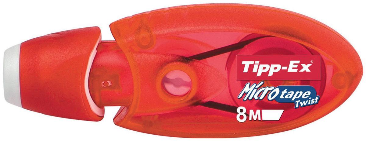 Bic Корректирующая лента Tipp-Ex Micro Tape 8 м цвет красный -  Корректоры
