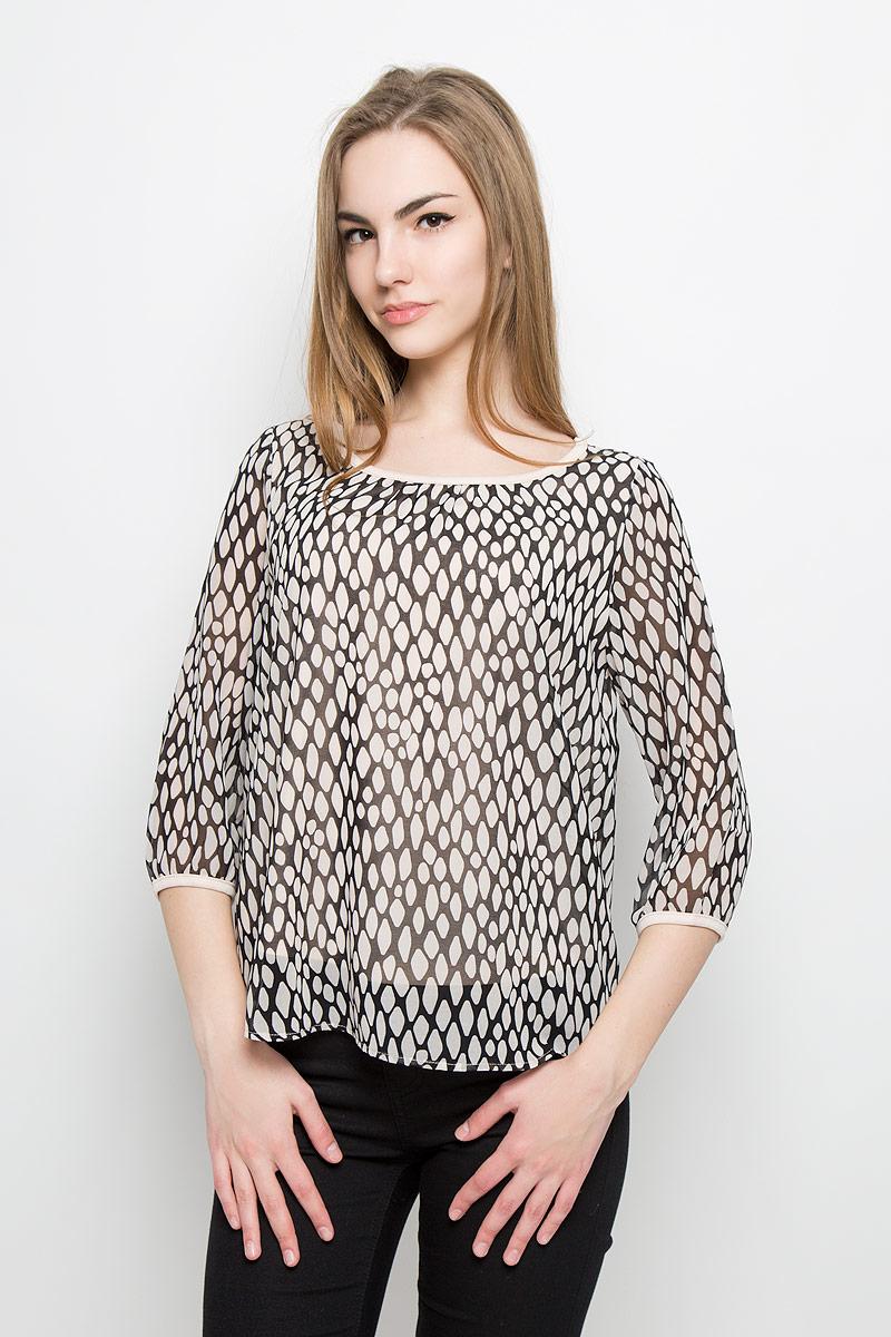 Блузка женская Broadway Tesni, цвет: бежевый, черный. 10156963_055. Размер XS (42) broadway блузка