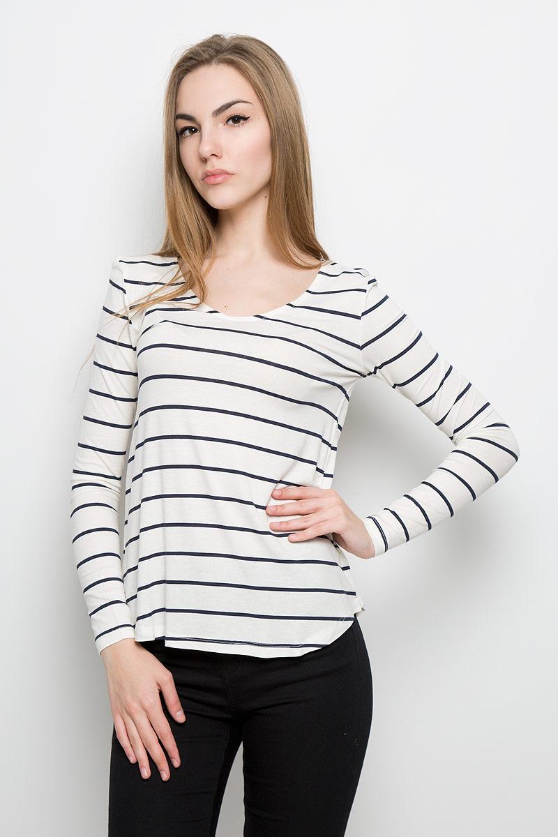 Лонгслив женский Broadway Olga, цвет: молочный, темно-синий. 10156881_001. Размер XL (50) пуловеры broadway пуловер