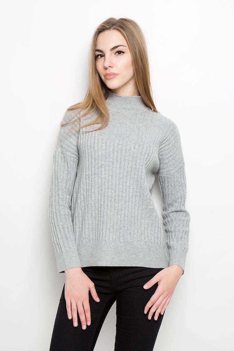 Свитер женский Broadway Sanary, цвет: серый. 10156852_807. Размер M (46) юбка broadway sevi цвет темно серый белый 10156901 833 размер m 46