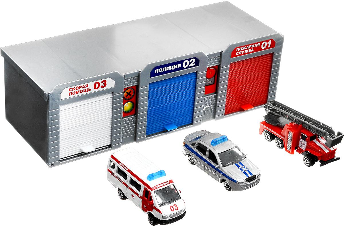 ТехноПарк Игровой набор Гараж для спецтехники технопарк игровой набор полиция