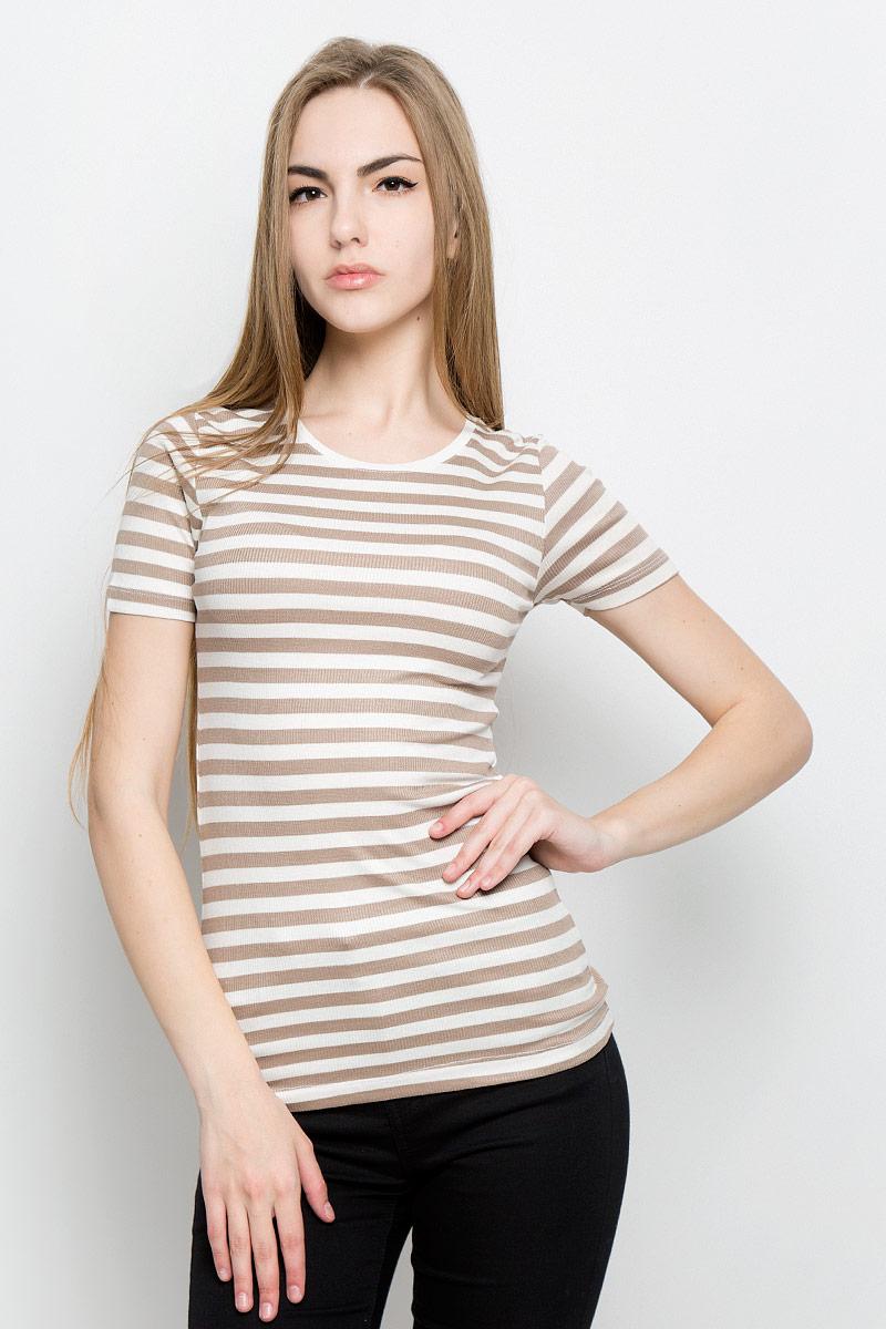 Футболка женская Broadway Silvia, цвет: белый, бежевый. 10156877_708. Размер L (48) футболка broadway broadway br004emccos3