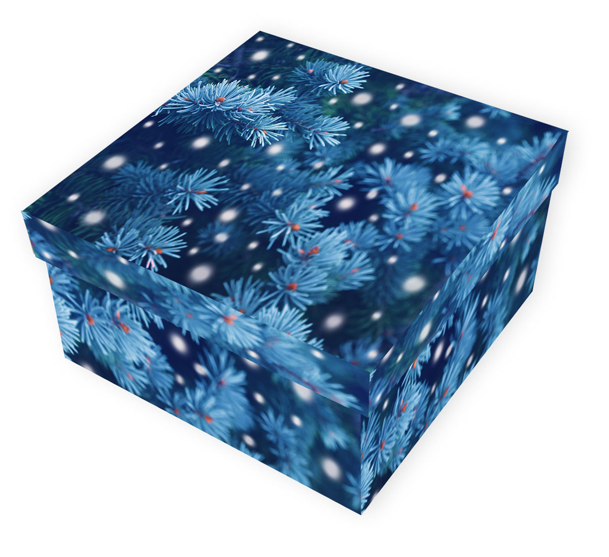 Коробка подарочная Proffi Home Снежная ель, 12 х 22 х 22 смPH7828Большие картонные коробкиProffi Home Снежная ель идеально подходят для упаковки объемных подарков. Коробка изготовлена из плотного цветного картона.