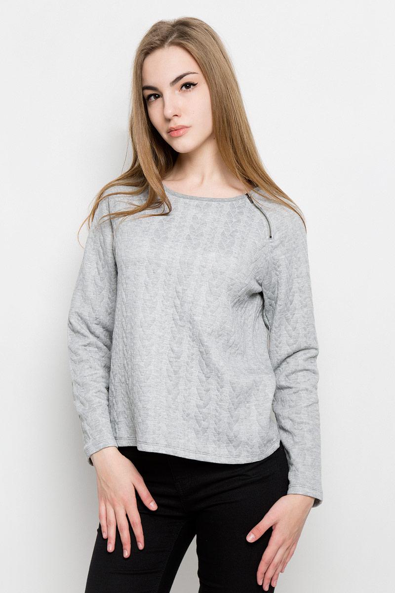 Свитшот женский Broadway Tora, цвет: серый. 10157010_807. Размер M (46) пуловеры broadway пуловер
