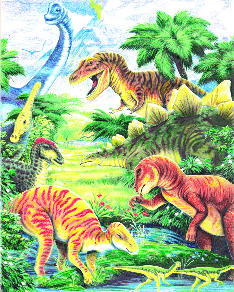 Royal & Langnickel Раскраска Динозавры