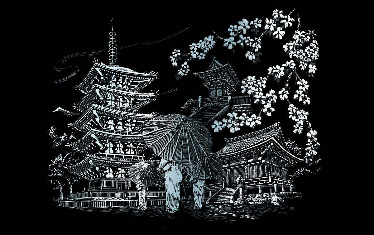 Royal & Langnickel Гравюра Храм Киото