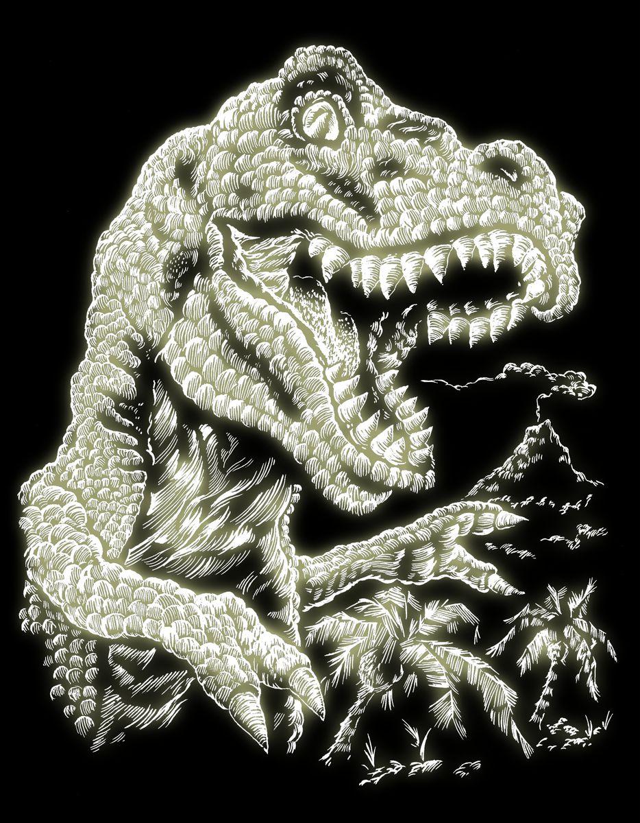 Royal & Langnickel Гравюра с флуоресцентным эффектом Тираннозавр