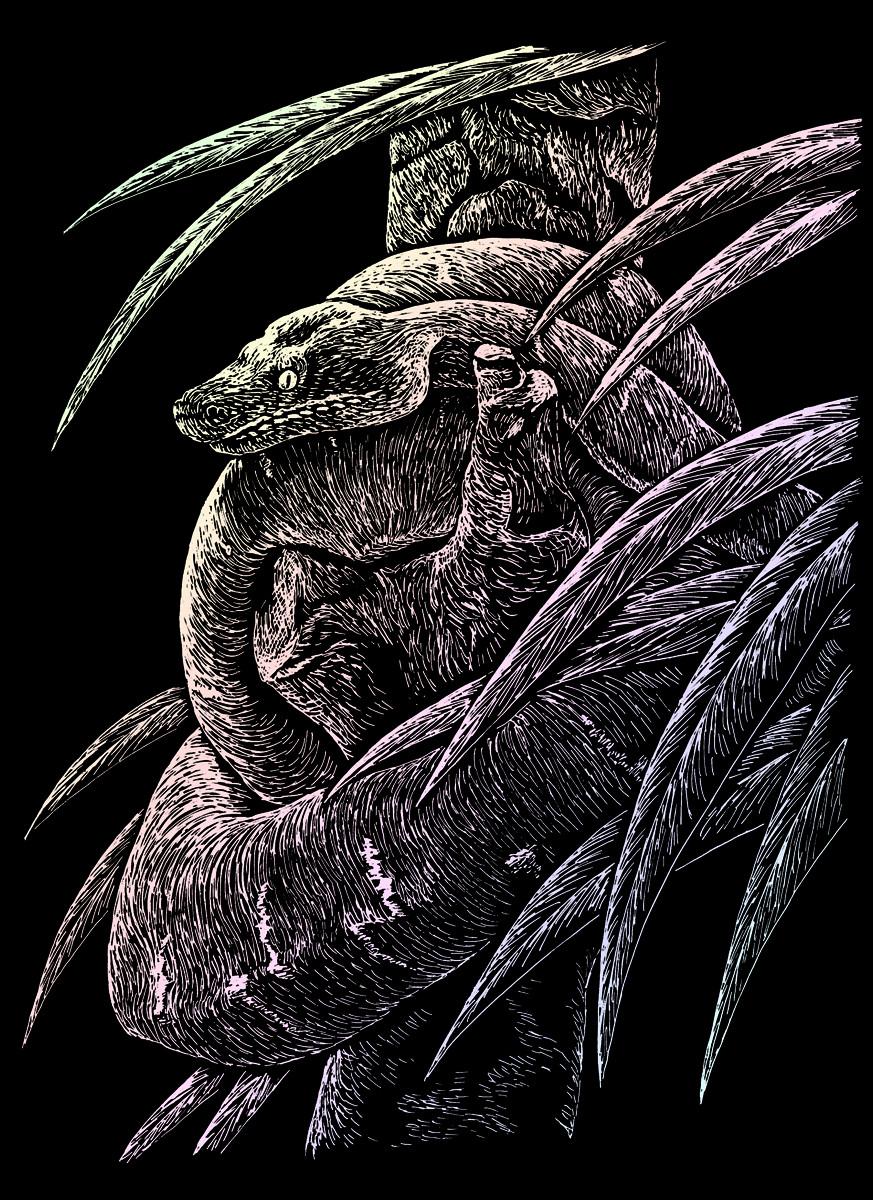 Royal & Langnickel Гравюра с голографическим эффектом Змея