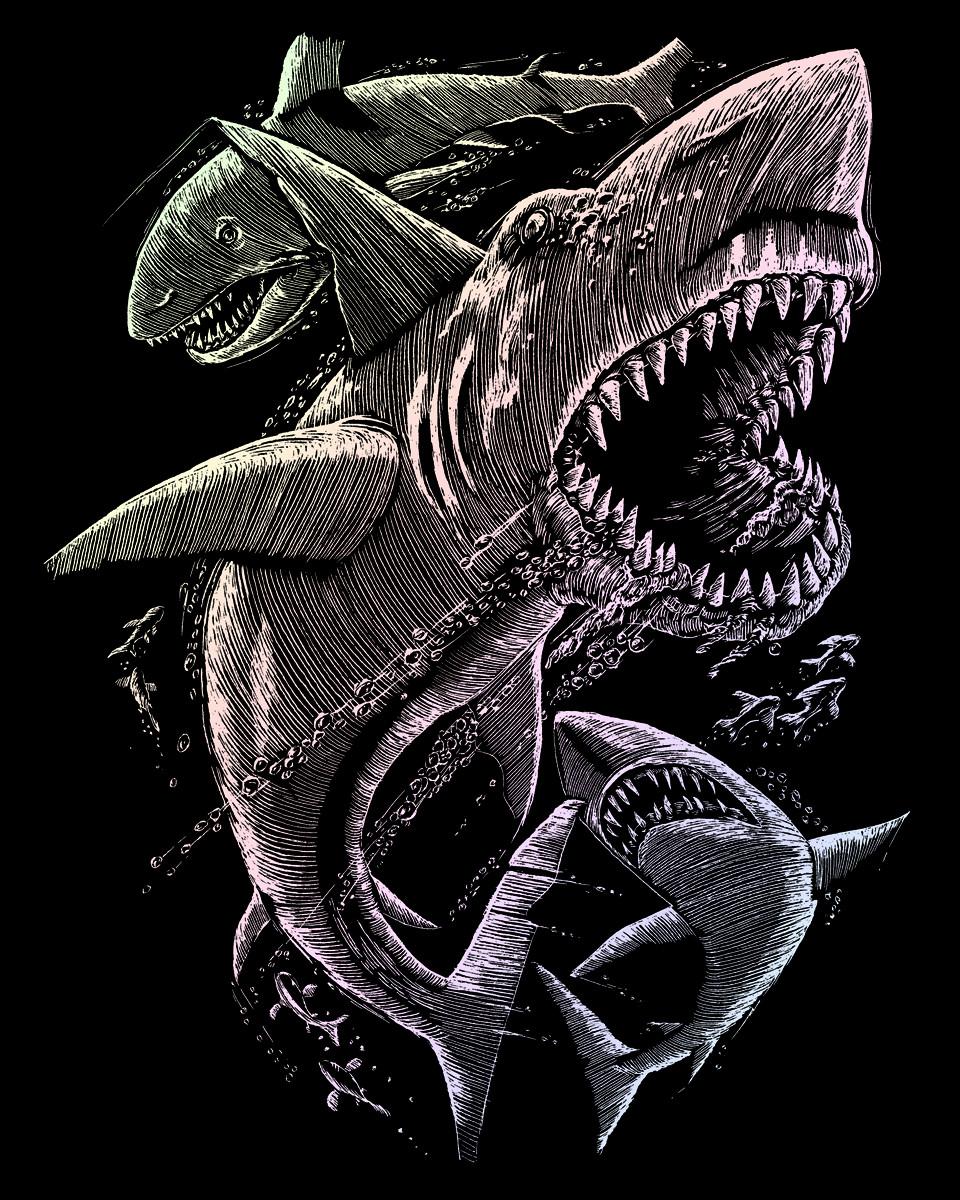 Royal & Langnickel Гравюра с голографическим эффектом Акулы