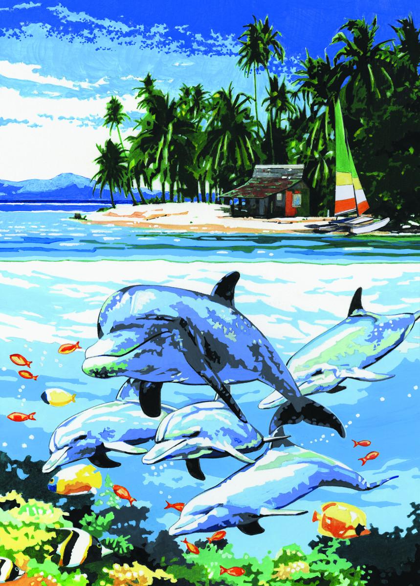 Royal & Langnickel Картина по номерам Остров дельфинов