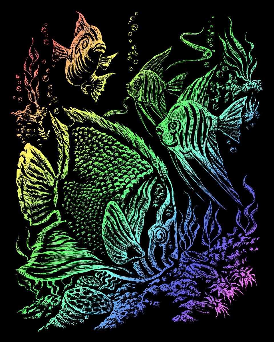 Royal & Langnickel Гравюра Тропические рыбы радужная