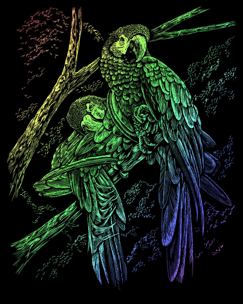 Royal & Langnickel Гравюра радужная Тропические птицы