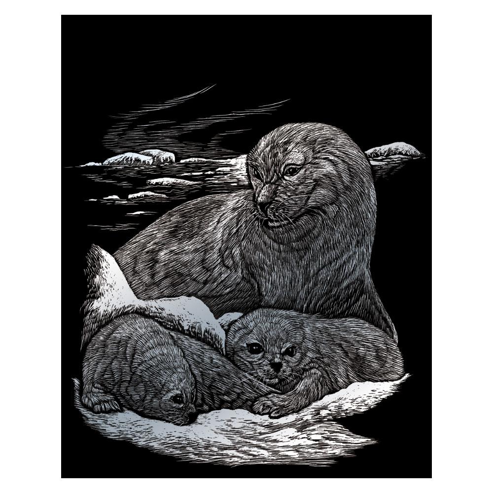 Royal & Langnickel Гравюра с серебряным эффектом Тюлени