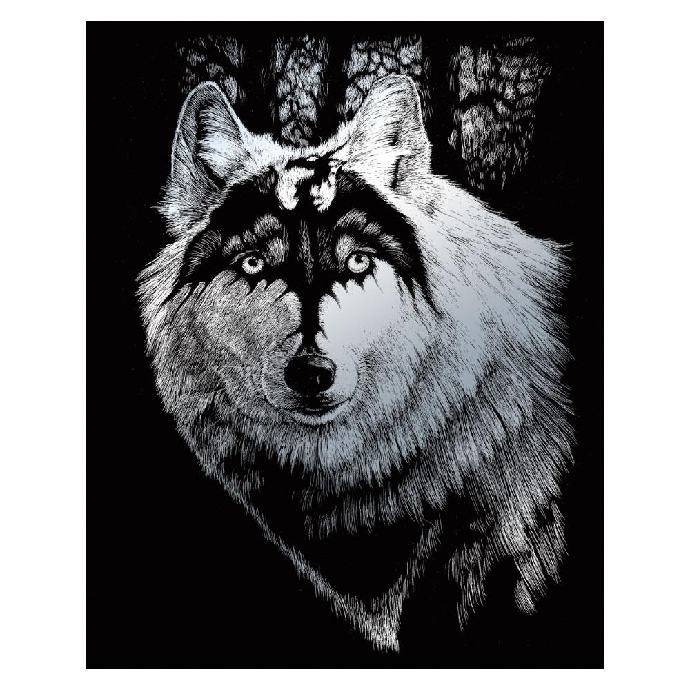 Royal & Langnickel Гравюра Волк Дракон цвет серебро