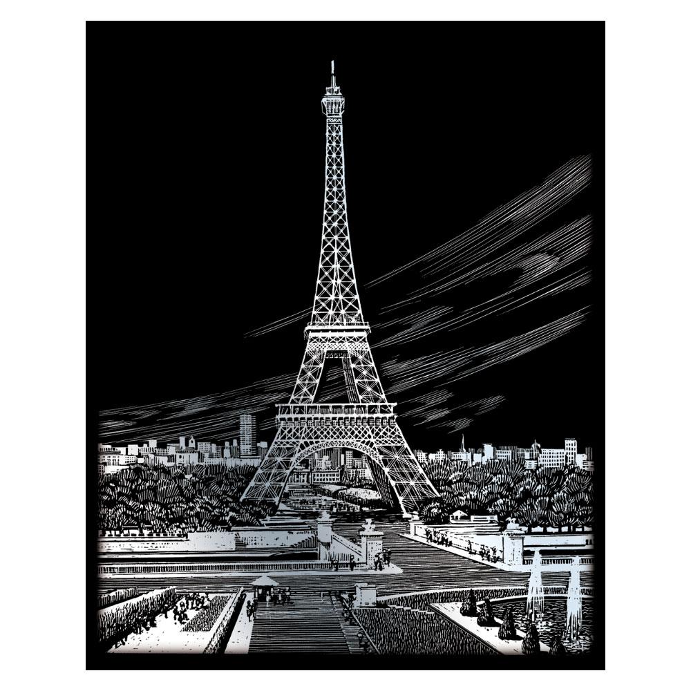 Royal & Langnickel Гравюра с серебряным эффектом Эйфелева башня