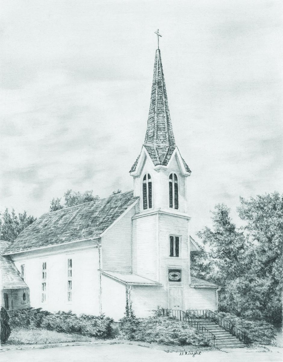 Royal & Langnickel Раскраска-эскиз Церковь увитая плющем