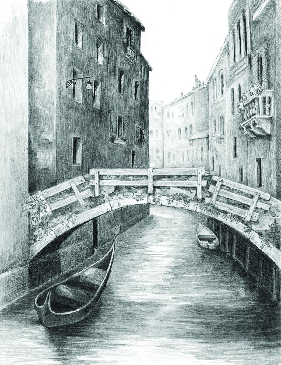 Royal & Langnickel Раскраска-эскиз Венецианский мост