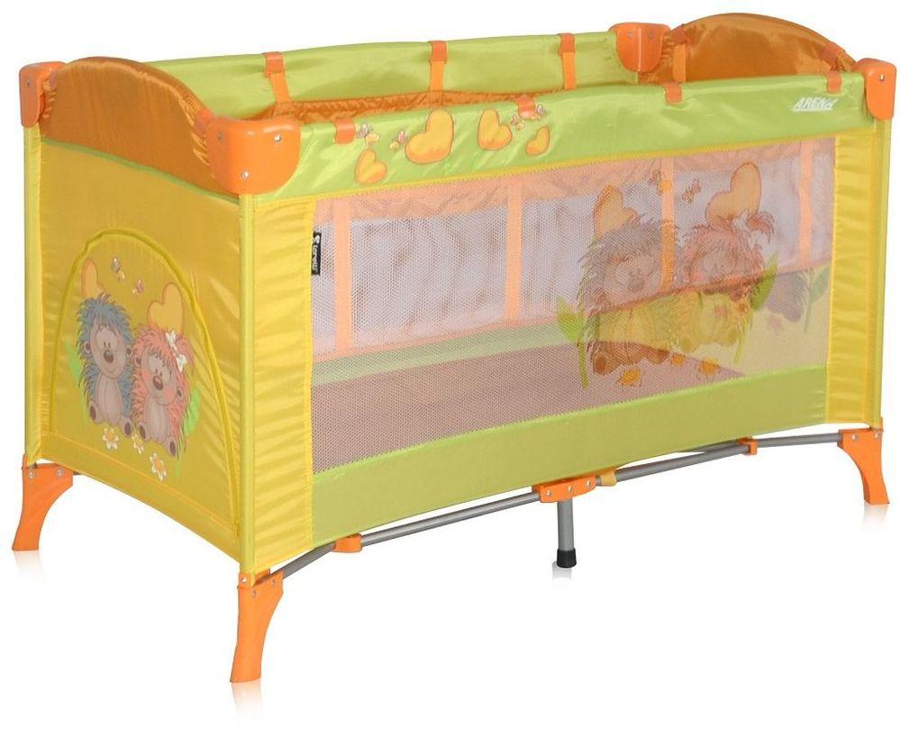 Lorelli Манеж-кроватка Arena 2 цвет мультиколор3800151905264Стильный и функциональный манеж от болгарского бренда Bertoni Arena 2 можно использовать в качестве кроватки для ребенка, что решает вопрос безопасности и комфорта малыша во время поездок и путешествий. Практичная и удобная такая кроватка яркая и красочная нравится всем деткам. Достоинства детского манежа-кроватки Bertoni Arena 2: Дно устанавливается на 2х уровнях для удобства родителей и малыша В сложенном виде Bertoni Arena 2 занимает мало места, есть удобная сумка для переноски, механизм складывания предельно простой Дно кроватки-манежа жесткое, что способствует правильному формированию позвоночника крохи Замок-фиксатор не позволяет манежу складываться самостоятельно Продукция производится из экологичных и безопасных материалов, сертифицирована Можно использовать на улице и в доме Есть центральная ножка, которая не позволяет прогибаться дну Bertoni Arena 2 подходит для деток с первых дней жизни и до 3 лет Ножки манежа очень устойчивы, поэтому конструкция никогда не перевернется Борта по периметру с мягкой обивкой, так что крохи не травмируется Прозрачные боковины позволяют всегда видеть, чем занят малыш
