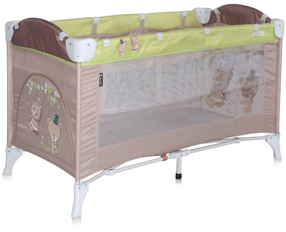 Lorelli Манеж-кроватка Arena 2 цвет бежевый зеленый - Детская комната