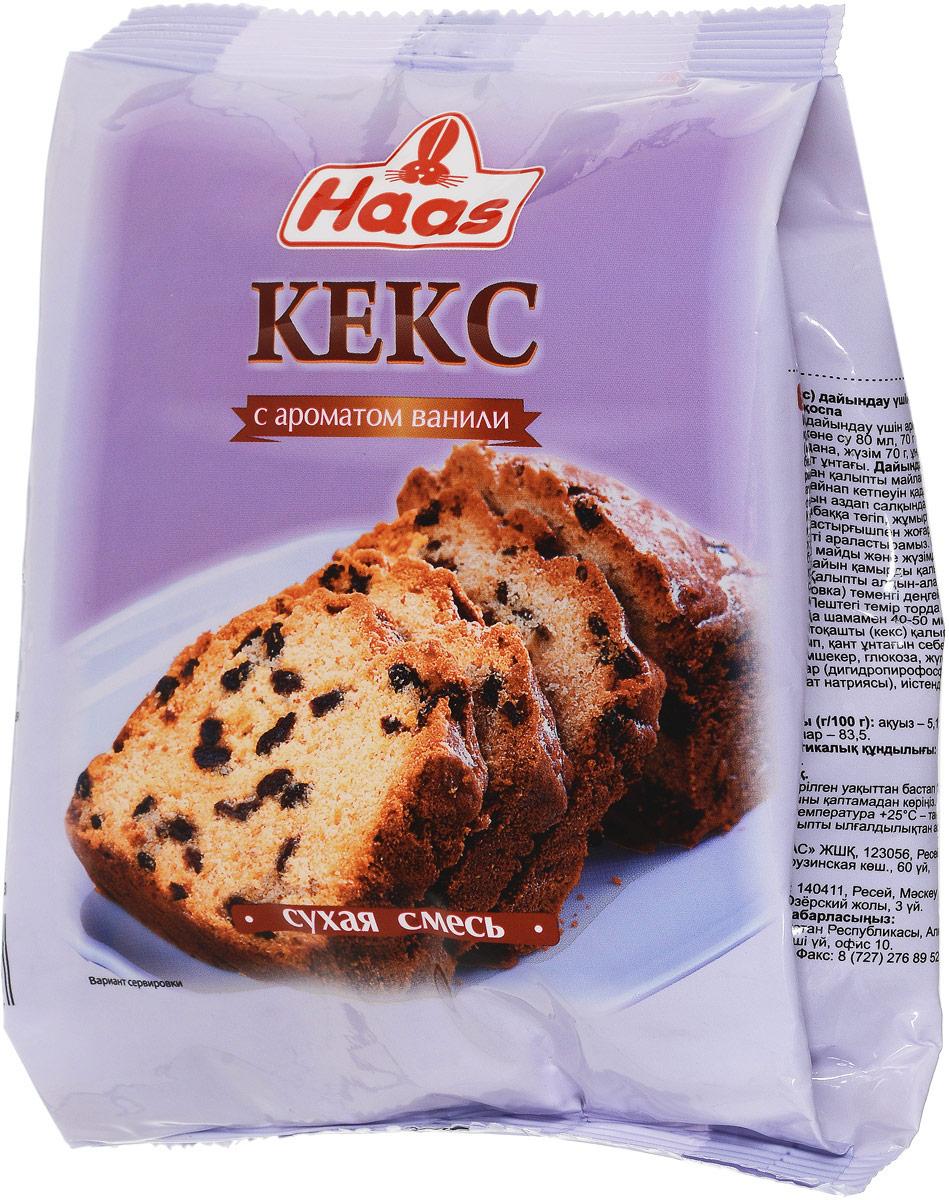 Haas смесь для кексов с ароматом ванили, 300 г