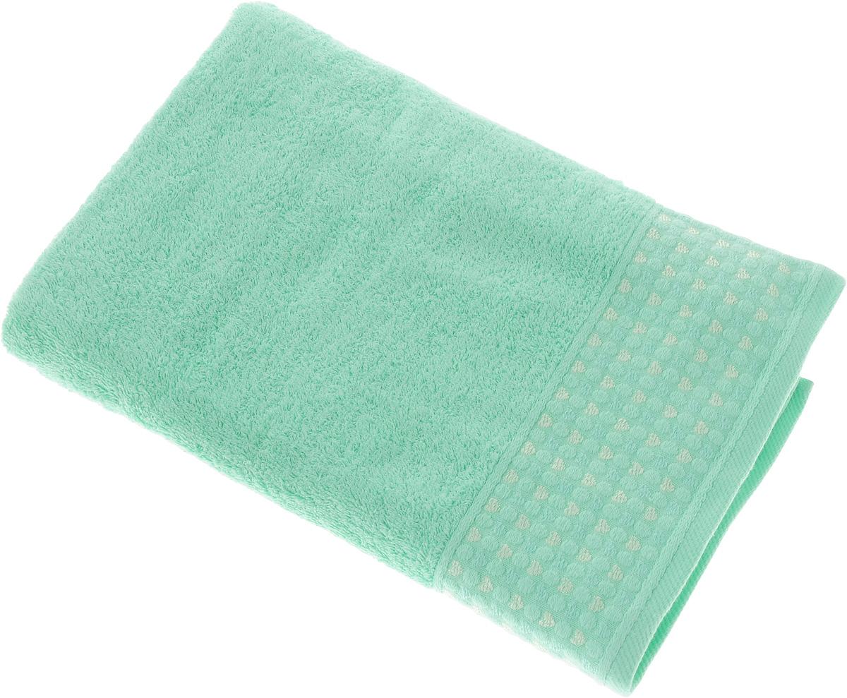 Полотенце Tete-a-Tete Сердечки, цвет: бирюзовый, 50 х 90 см. УП-007УП-007-02Махровое полотенце Tete-a-Tete Сердечки, изготовленное из натурального хлопка, подарит массу положительных эмоций и приятных ощущений. Полотенце отличается нежностью и мягкостью материала, утонченным дизайном и превосходным качеством. Линейка Сердечки декорирована бордюром с сердечками и горошком, полотенце выполнено в пастельном тоне.Полотенце прекрасно впитывает влагу, быстро сохнет и не теряет своих свойств после многократных стирок. Махровое полотенце Tete-a-Tete Сердечки станет прекрасным дополнением в дизайне ванной комнаты.