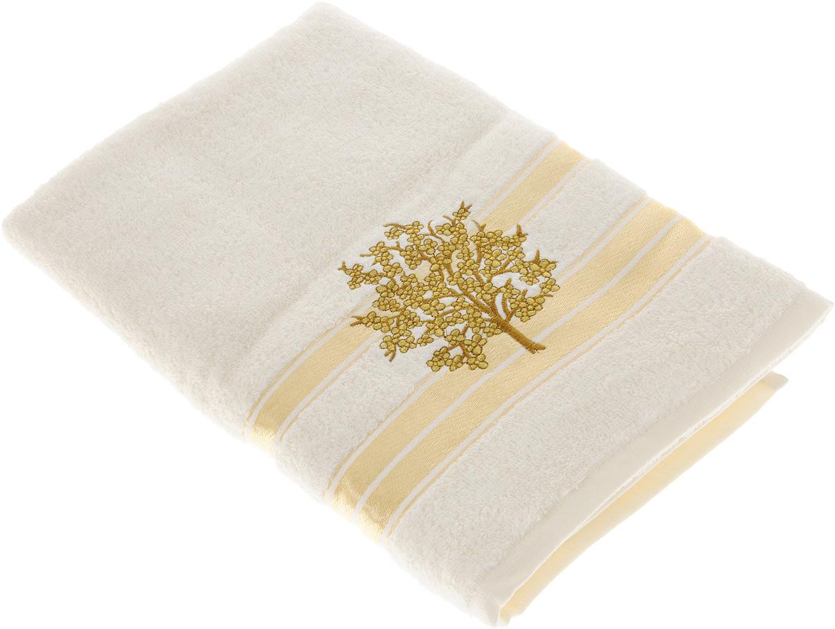 Полотенце Tete-a-Tete Золотое дерево, 50 х 90 смУП-003-01Махровое полотенце Tete-a-Tete Золотое дерево, изготовленное из натурального хлопка, подарит массу положительных эмоций и приятных ощущений. Полотенце отличается нежностью и мягкостью материала, утонченным дизайном и превосходным качеством. Линейка Золотое дерево декорирована вышивкой веточки сакуры.Полотенце прекрасно впитывает влагу, быстро сохнет и не теряет своих свойств после многократных стирок. Махровое полотенце Tete-a-Tete Золотое дерево станет прекрасным дополнением в дизайне ванной комнаты.