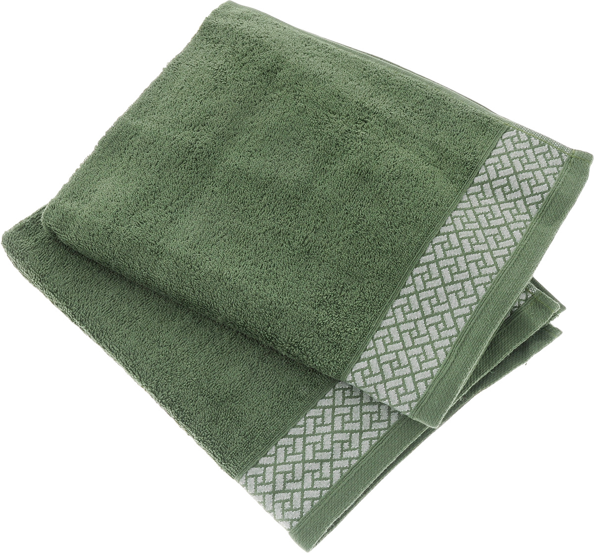 Набор полотенец Tete-a-Tete Лабиринт, цвет: зеленый, 2 шт. УНП-105УП-010-03кНабор Tete-a-Tete Лабиринт состоит из двух махровыхполотенец, выполненных из натурального 100% хлопка.Изделия мягкие, отлично впитывают влагу, быстро сохнут,сохраняют яркость цвета и не теряют форму даже послемногократных стирок. Данный дизайн был разработан, как мужская линейка, - строгиенасыщенные цвета и геометрический рисунок на бордюре.Набор полотенец Tete-a-Tete Лабиринт станетпрекрасным дополнением в дизайне ванной комнаты.