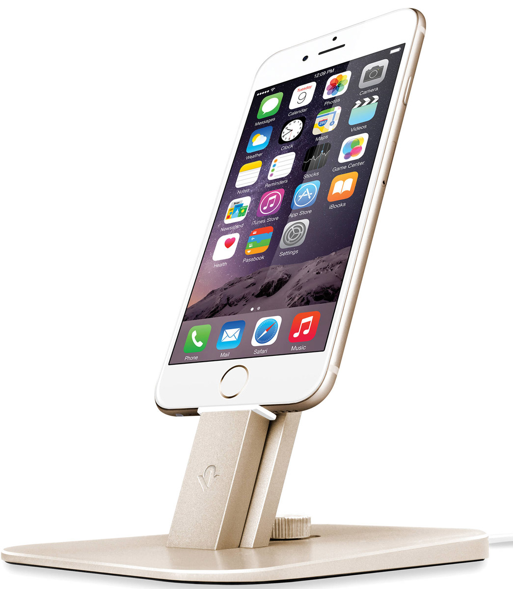 Twelve South HiRise Deluxe, Gold док-станция для iPhone/iPad mini