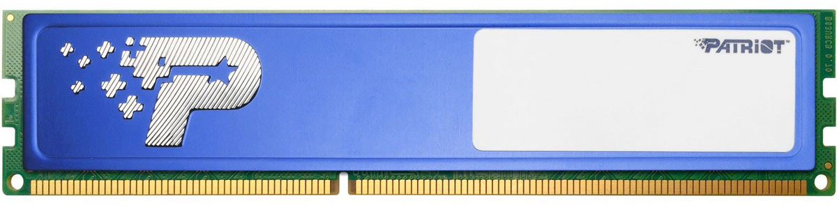 Patriot DDR4 DIMM 8Gb 2400МГц модуль оперативной памяти (PSD48G240081H) модуль оперативной памяти пк patriot pv38g160c9k pv38g160c9k