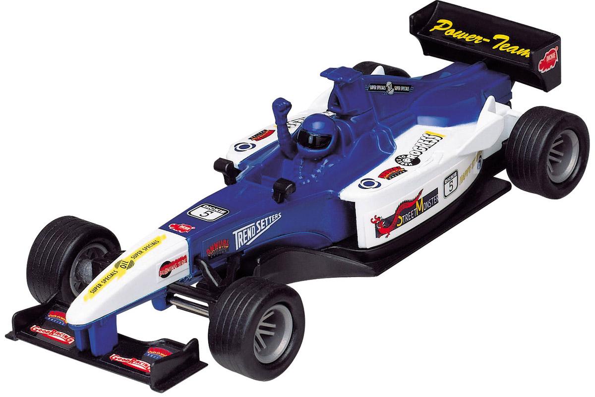 Dickie Toys Машинка Формула-1 цвет белый синий dickie toys dickie toys радиоуправляемые машинки трансформер grimlock