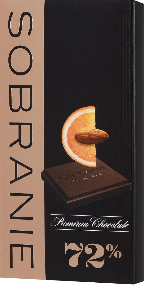 Sobranie горький шоколад с апельсином и орехами, 90 г