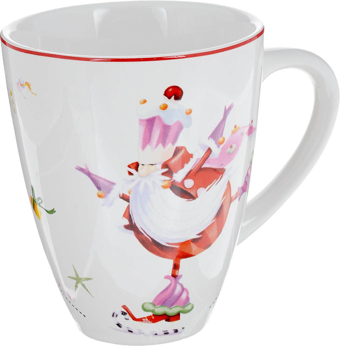 Кружка Azulejo Espanol Merry Santa, 300 мл737830 2241Кружка Azulejo Espanol Merry Santa изготовлена из качественной глазурованной керамики. Внешние стенки изделия декорированы красивыми новогодними рисунками. Такая кружка согреет вас горячим напитком и станет неизменным атрибутом чаепития.Не рекомендуется использовать в микроволновой печи и мыть в посудомоечной машине.