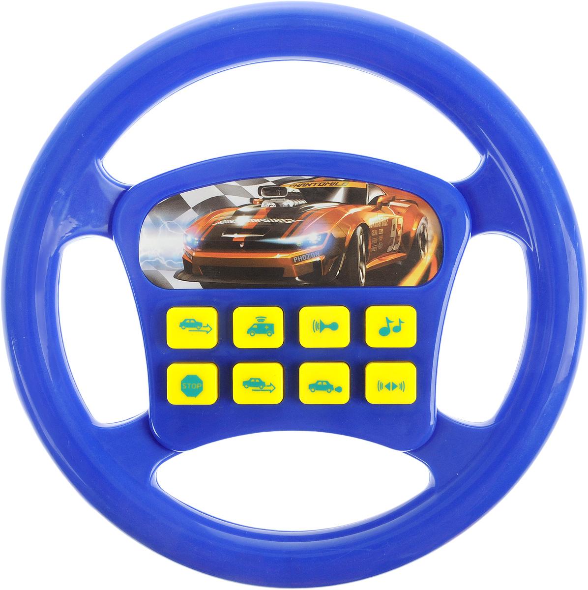 Играем вместе Игрушечный руль Машина цвет синий игровые рули играем вместе руль