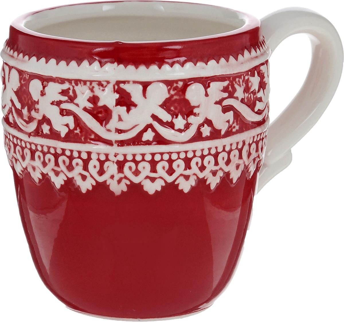 Кружка Family & Friends Рождественский узор, 400 млNH15B613R..Кружка Family & Friends Рождественский узор изготовлена из качественной глазурованной керамики. Внешние стенки изделия декорированы красивым рельефным орнаментом в виде ангелочков. Такая кружка согреет вас горячим напитком и станет неизменным атрибутом чаепития. Не рекомендуется использовать в микроволновой печи и мыть в посудомоечной машине.