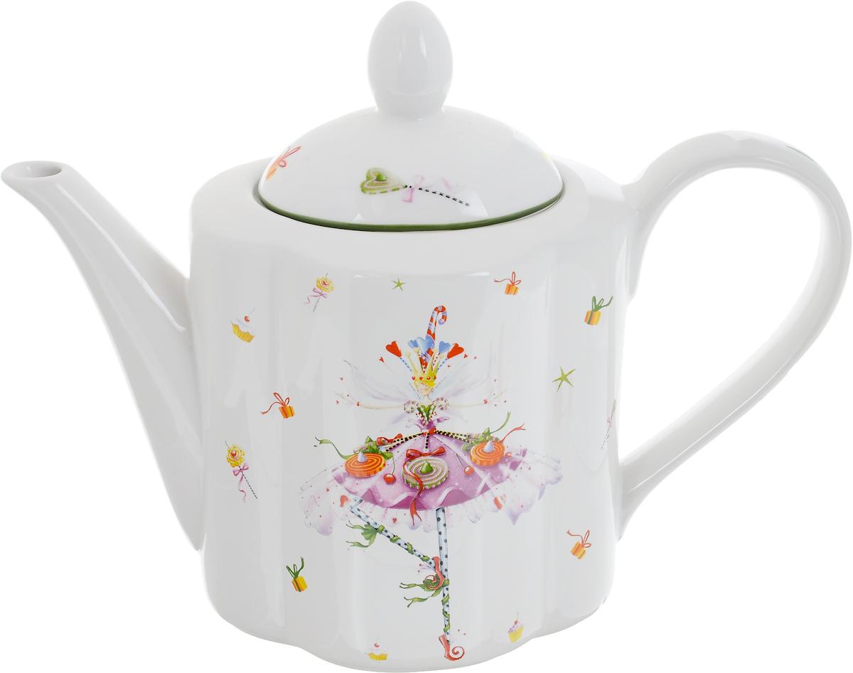 Чайник заварочный Azulejo Espanol Dancing Lady, 1 л216748-1522..Чайник заварочный Azulejo Espanol Dancing Lady изготовлен из качественной глазурованной керамики. Внешние стенки изделия декорированы красивыми новогодними рисунками. Чайник снабжен удобной ручкой, носиком и крышкой. Основание носика имеет отверстия, это задерживает чаинки и не дает им попасть вместе с напитком в чашку. Такой заварочный чайник красиво дополнит сервировку стола к чаепитию и станет полезным приобретением для любой хозяйки. Отличный подарок к любому случаю. Не рекомендуется использовать в микроволновой печи и мыть в посудомоечной машине.
