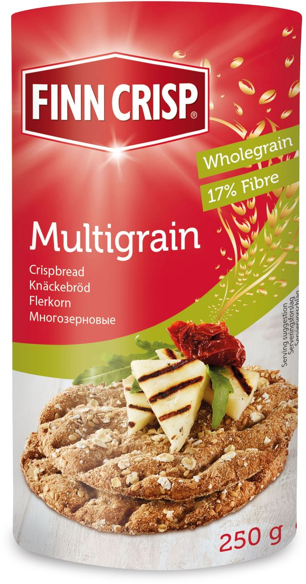 Finn Crisp Multigrain хлебцы многозерновые, 250 г finn crisp traditional хлебцы традиционные 200 г