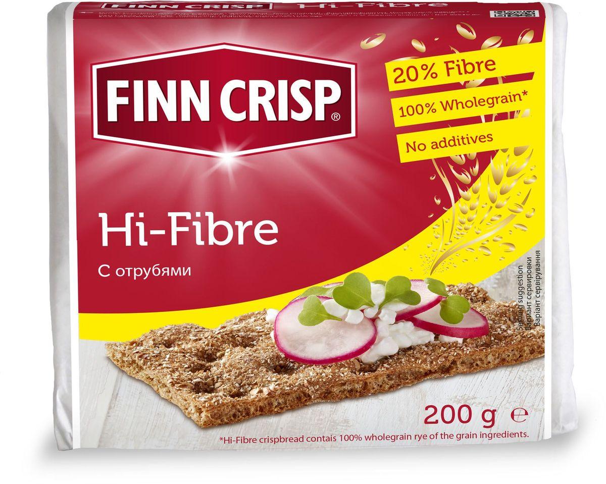 Finn Crisp Hi-Fibre хлебцы с отрубями, 200 г finn crisp traditional хлебцы традиционные 200 г