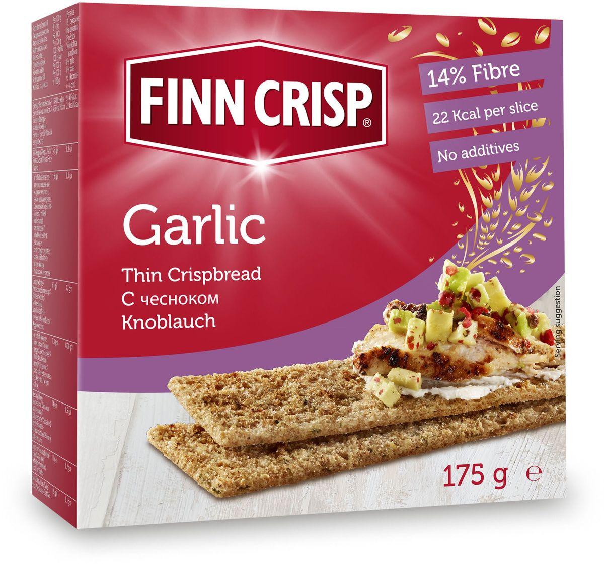 Finn Crisp Garlic хлебцы с чесноком, 175 г finn crisp traditional хлебцы традиционные 200 г