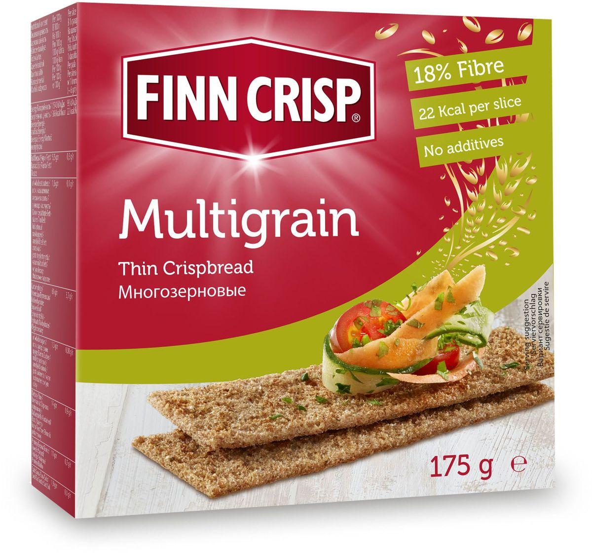 Finn Crisp Multigrain хлебцы многозерновые, 175 г finn crisp traditional хлебцы традиционные 200 г