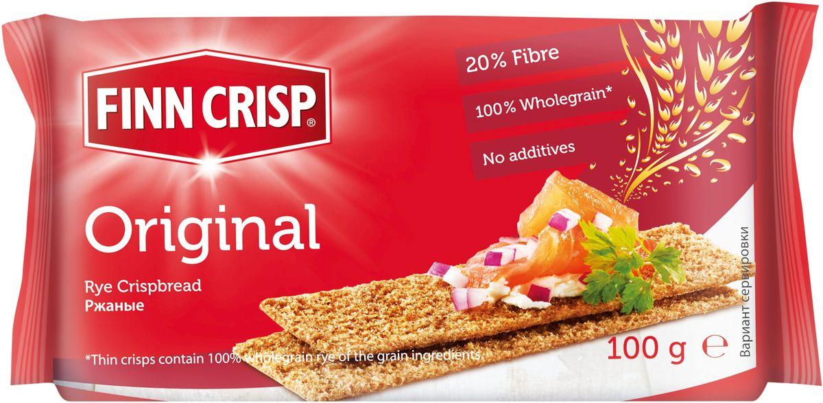 Finn Crisp Original хлебцы ржаные, 100 г finn crisp traditional хлебцы традиционные 200 г