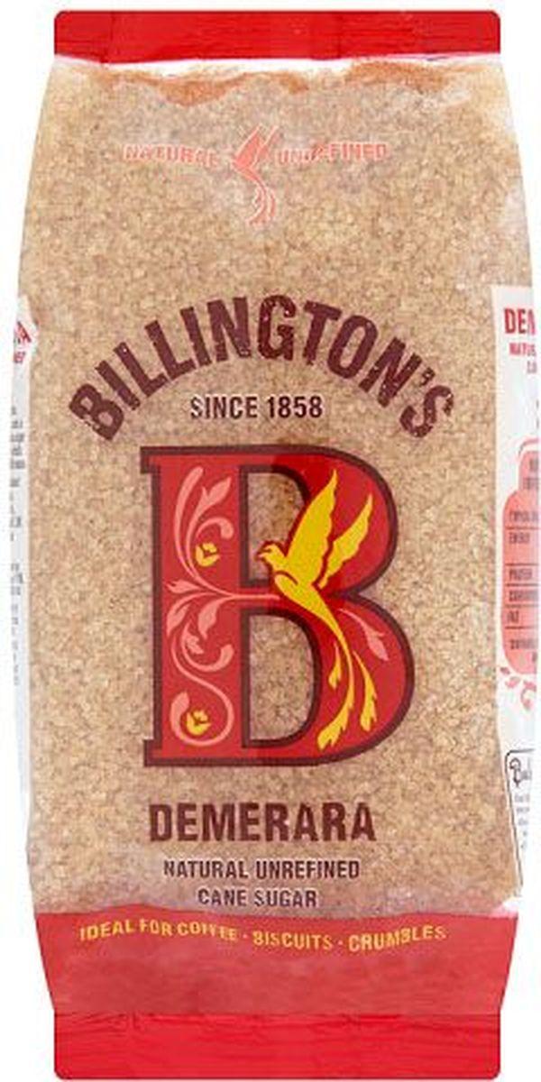 Billingtons Demerara сахар нерафинированный, 500 г28112Высококачественный сахар Billington's производят из элитных сортов тростника, который подвергается минимальной технической обработке (не пропускают через костяные фильтры), что позволяет сохранить природные минералы, придающие продукту характерный вкус и запах. Нерафинированный коричневый тростниковый сахар содержит в своем составе кальций, железо, магний, фосфор, калий и даже протеины, которые полностью отсутствуют в обычном сахаре.